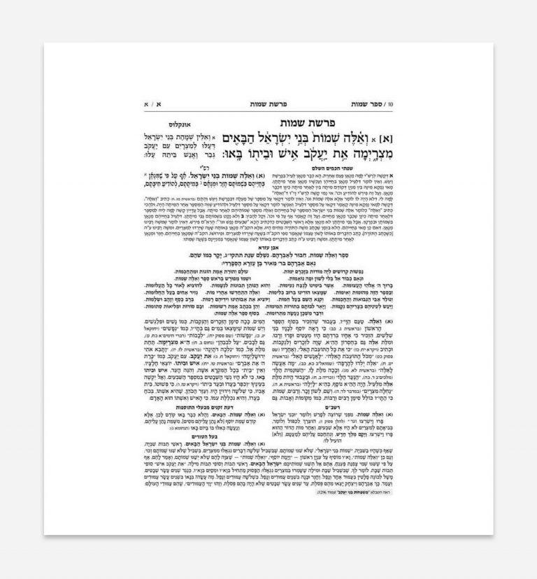 ניקוד ספרי קודש - ספר שמות